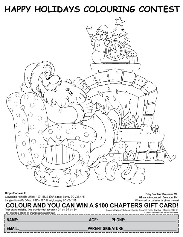 Christmas Colouring Contest Page